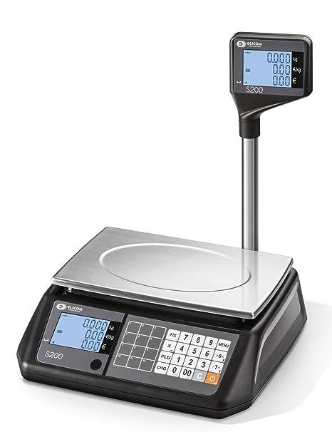 elicom Precio rechnungs Báscula S 200 L de rango de pesaje de 6 3/6