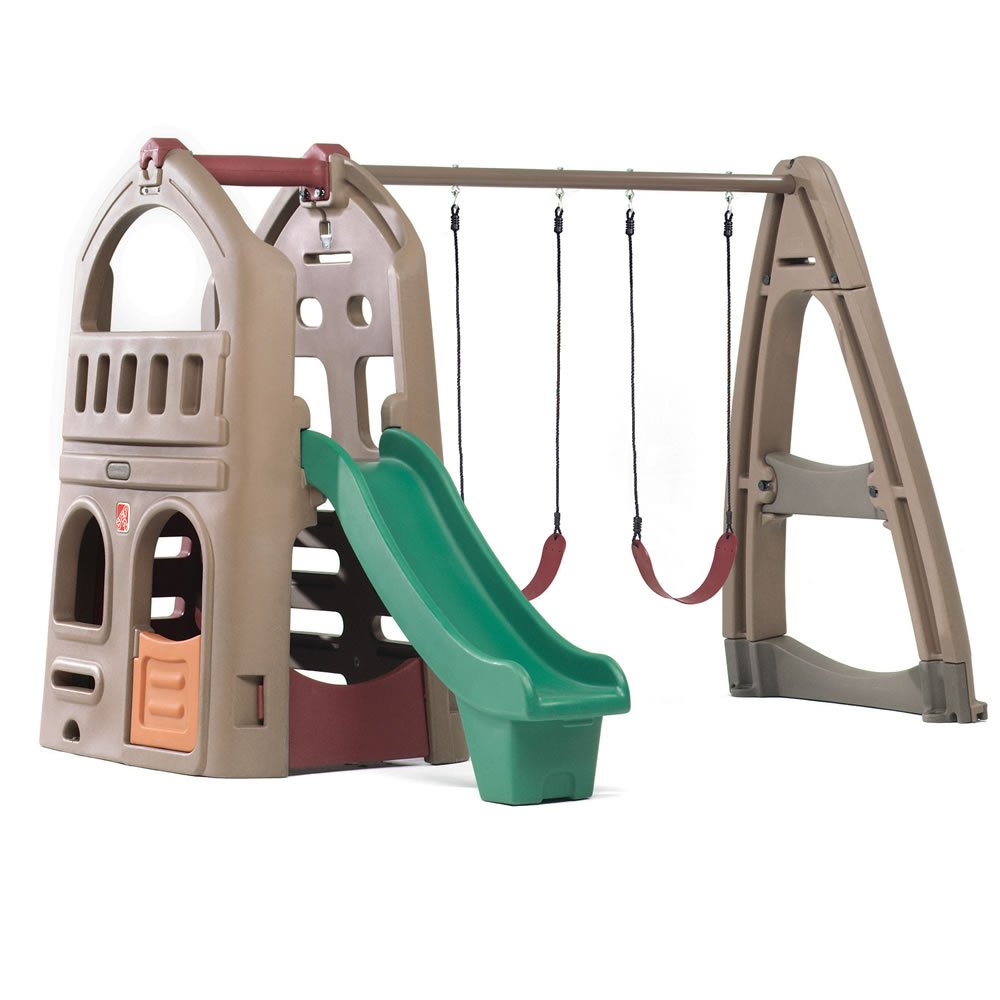 Step2 Naturally Playful Playhouse Climber & Swing Set Extension by Step2