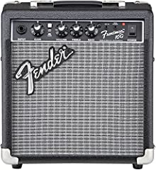 Our Frontman amps deliver quality tone at a great price, with custom-voiced built-in overdrive for great tone and the unmistakable Fender Blackface look. The 10-watt Frontman 10G features a 6-inch Special Design speaker and a selectable gain ...