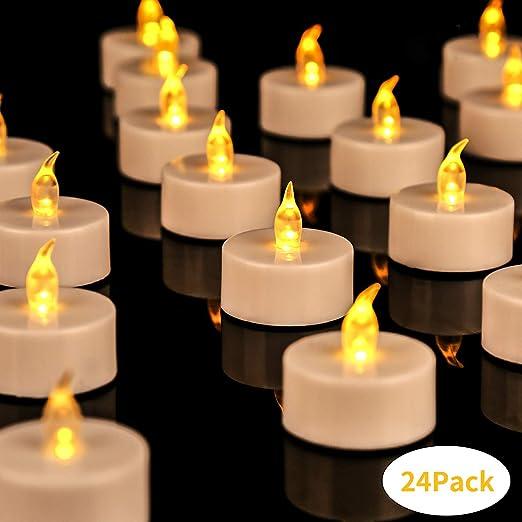 Teelicht Kerze Kerzen Tealights Flammenlos Elektrische LED Teelichter Flackernd