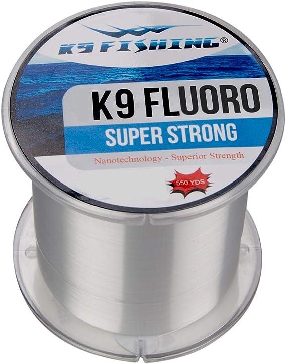 K9 300-14lb-CL Clear Fluoro Line 300 Yard Spool 14lb Test