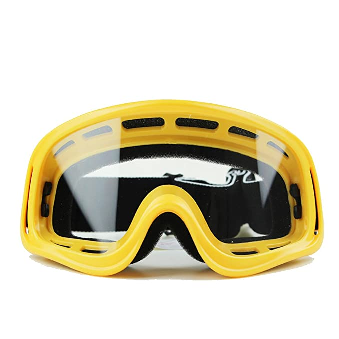 WDAKOWA Motocicletta Antivento Antipolvere Occhiali Offroad Sci Occhiali Da Sole,Orange