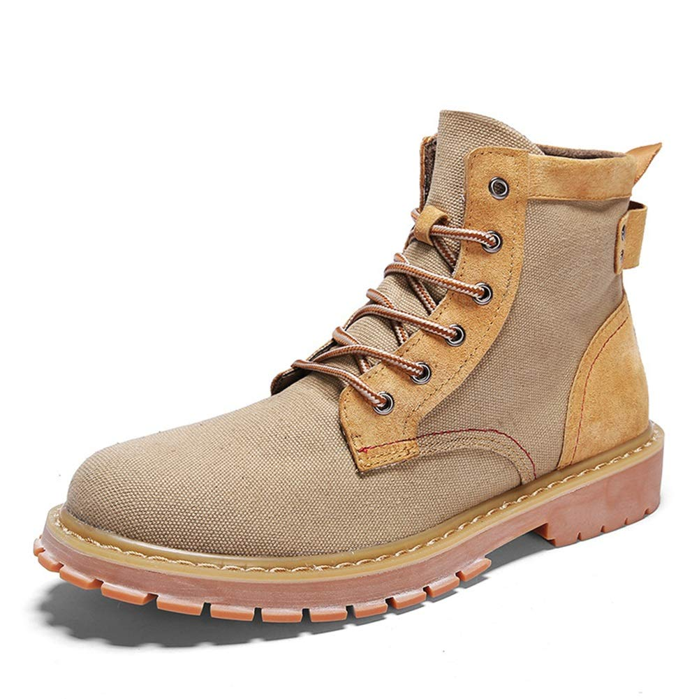 Männer Schuhe Herrenstiefel, 2018 Herbst High-top-Segeltuchschuhe High-top-Segeltuchschuhe Werkzeugschuhe Mode-Trendstiefel Outdoor-Stiefel England Freizeitschuhe Herrenmode Stiefel