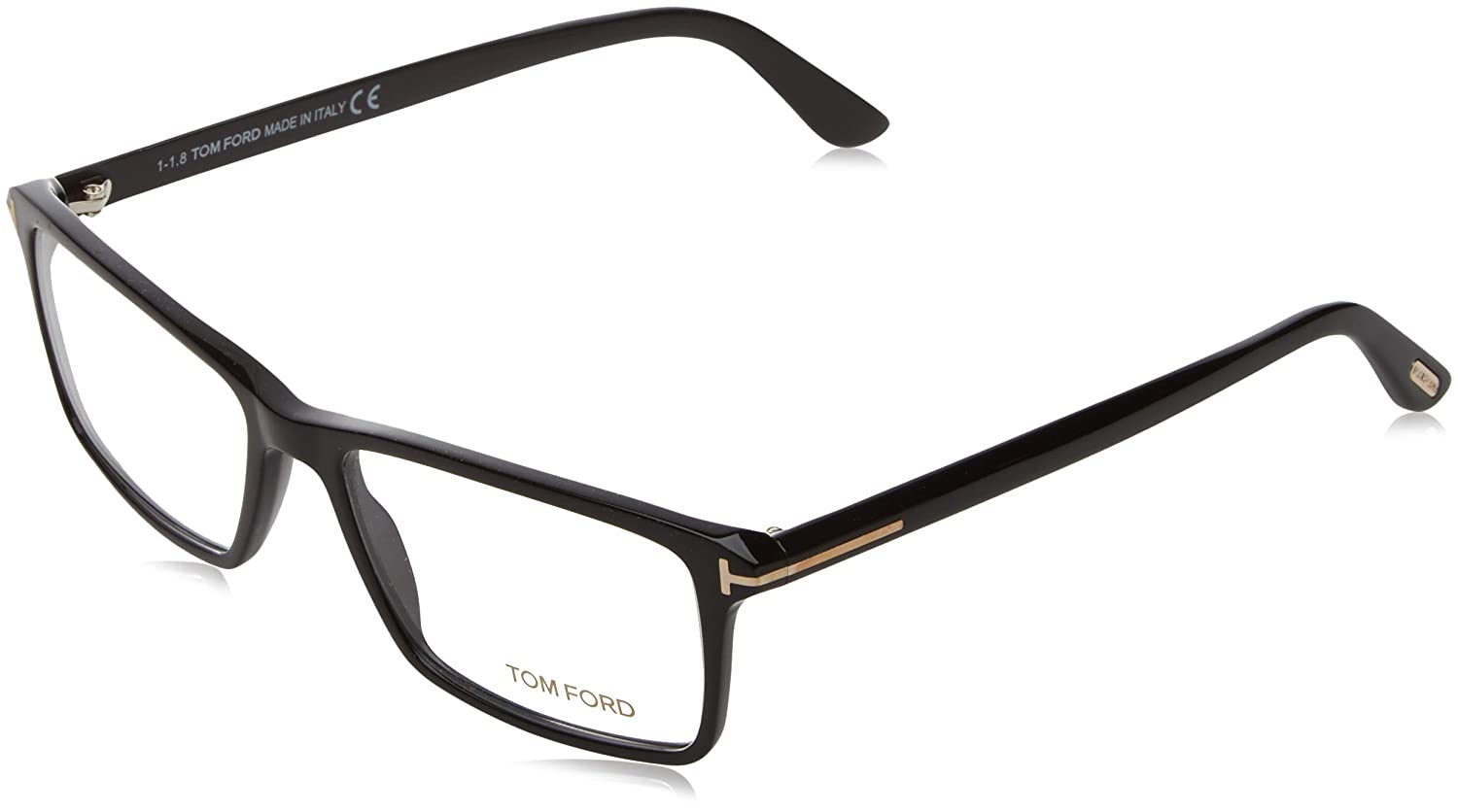 b4051ec79e TOM FORD Men s TF 5408 001 Black Clear Rectangular Eyeglasses 56mm ...