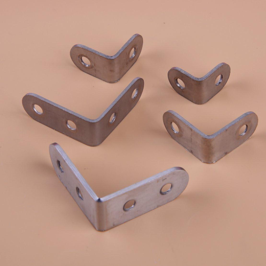 10 St/ück 2,5x2,5cm Edelstahl L-Form 90 Grad Winkel Winkel Eckverbinder f/ür Bodentr/äger
