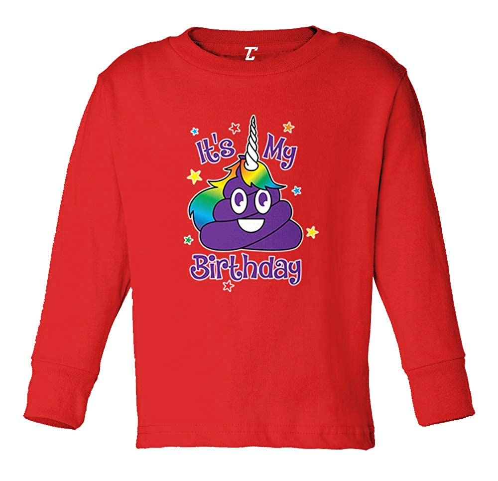 Humor Funny Long Sleeve Toddler Cotton Jersey Shirt Unicorn Poop
