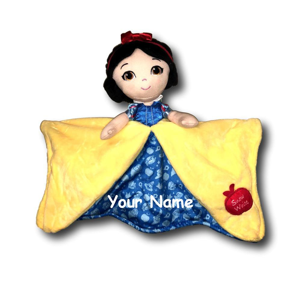 Personalized Disney Snow White and the Seven Dwarfs Princess Snow White Baby Blanky Blanket - 12 Inches