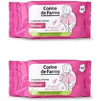 Corine de Farme Pack de 20 Lingettes Intime Douceur - Lot de 2