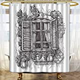 Best Croscill Blinds - Mikihome Shower Curtain Customized Scenery Sketchy Art Window Review