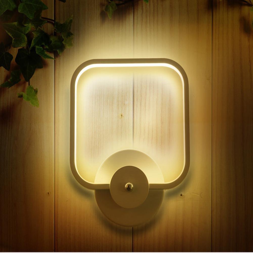 JIANREN LED Wandleuchte modernen minimalistischen rechteckigen Wohnzimmer Flur Flur Treppe Nachttischlampe Licht Acryl Schlafzimmer Studie