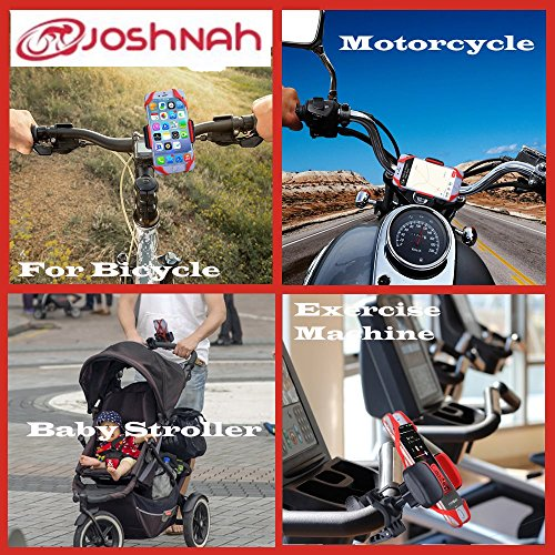 JoshNAh Bike Phone Mount , Universal Cell Phone Holder for Bicycle Handlebars , fits Iphone X , 8 , 7 , 7s , 6 , 6s plus , Galaxy s7 edge , 8 , s9 , s6 for Motorcycle & Bike Accessories by JoshNAh (Image #6)
