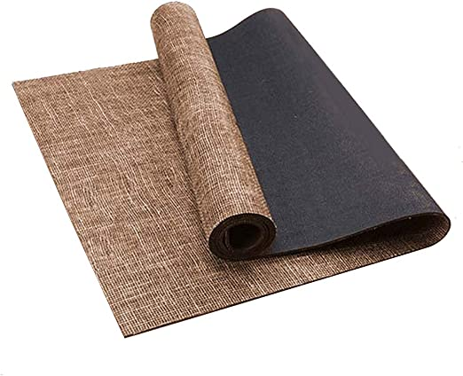 Amazon Com Anti Slip Hemp And Jute Yoga Mat Professional Body Alignment Lines Exercise Mat Eco Friendly Rubber Floor Mat For Pilates Fitness Workout Home Kitchen