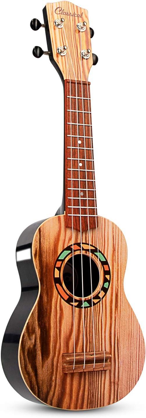 Aimedyou Mini Ukulele Guitar Toy für Kids, 4 Strings Children Musical Instruments Educational Toys mit die Picks und Strap für Beginner Starter (21 Inch)