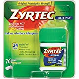 Zyrtec Tablets, 70 Count, 10 mg