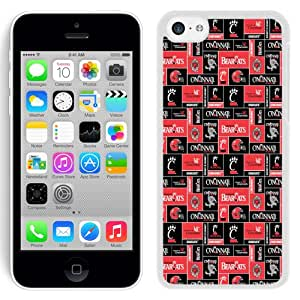 NEW Personalized Customized Iphone 5c Case with NCAA American Athletic Conference AAC Football Cincinnati Bearcats 1 Protective Cell Phone Hardshell Cover Case for Iphone 5c White