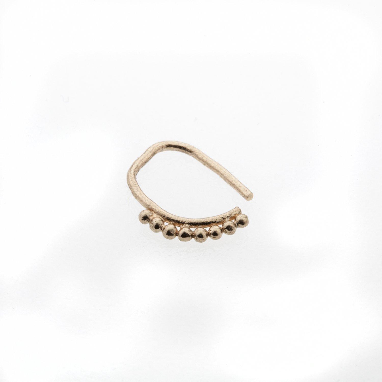 Helix Earring Nose Piercing D\u00e9grad\u00e9 Nose Ring Septum Beaded Nosering Indian Nostril Jewellery Gold Nose Hoop 14k Rose Gold Nose Ring