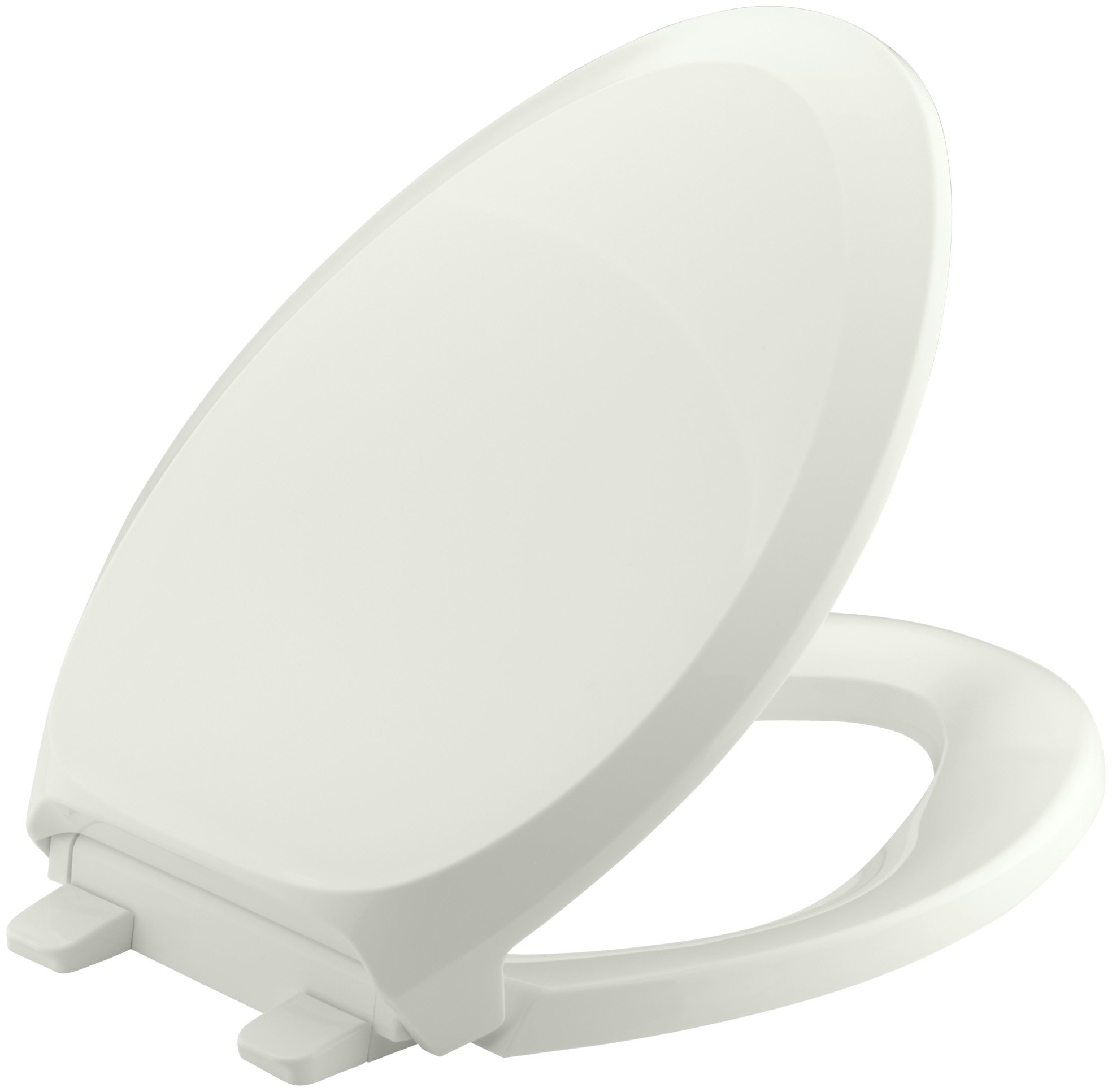 KOHLER K-4713-NY French Curve Quiet-Close with Grip-Tight Bumpers Elongated Toilet Seat, Dune