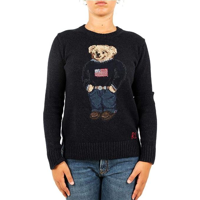 Polo Ralph Lauren Maglia Polo Bear in Cotone e Lino Donna Mod ...