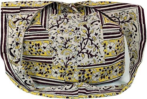 Imprimé Bandoulière sac Sac Hippie Sadhu Adulte Hippie Marron à blanc Shop sac Rouge Coton Guru Bandoulière sac Mixte en Vert Bloc Sadhu Marron à Blanc Sac XYpxvqw