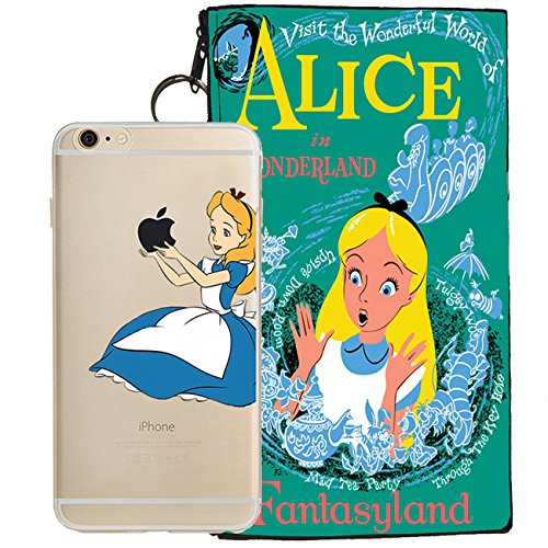 Disney Little Mermaid, Snow White, Alice in Wonderland, Lilo & Stitch, Mickey & Minnie Mouse Jelly Clear Case for Apple iPhone 6 / iPhone 6s (4.7