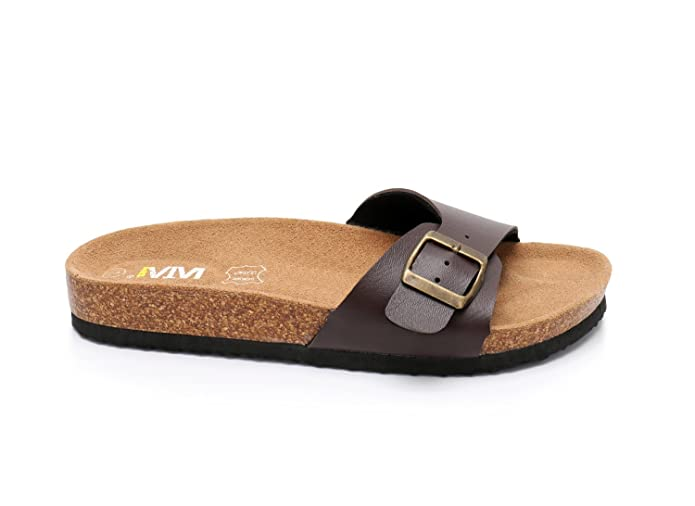 b5ad09db0c1b Amazon.com  Women s Slide Flat Cork Sandals with Adjustable Strap Buckle  Open Toe Slippers Suede Sole  Shoes