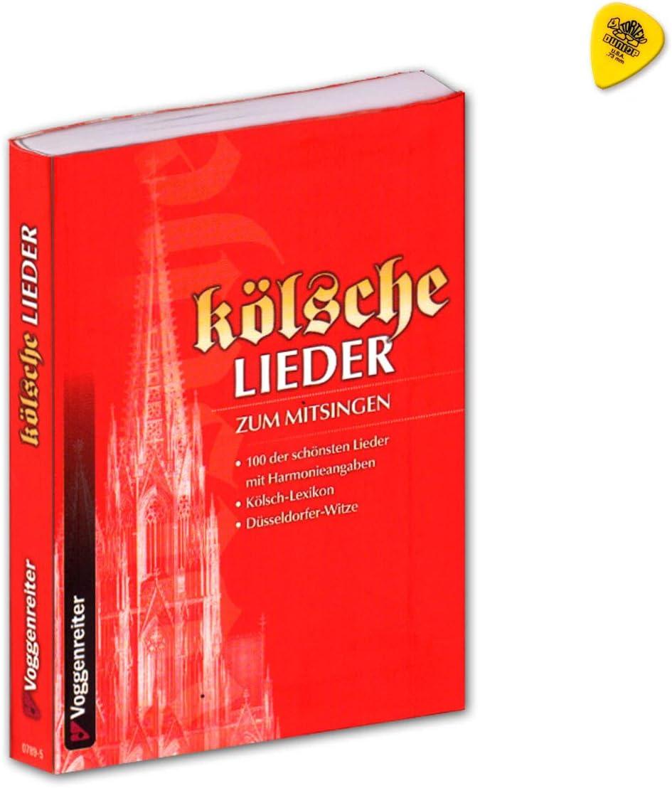 Canciones de Colonia para cantar, 100 de las canciones más bonitas con datos de armonía, Kölsch-Lexikon, Düsseldorfer-Witze, Songbook con Dunlop Plek