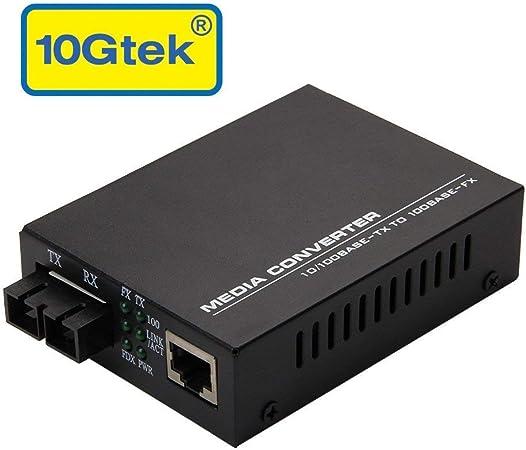 single-mode SC fiber 10//100Mbps Fast Ethernet Media Converter up to 20KM