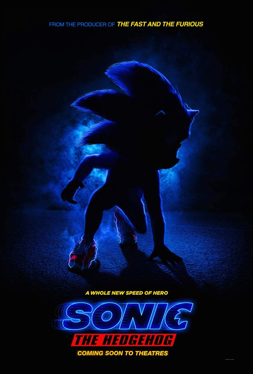 Amazon Com Sonic The Hedgehog Movie Poster 2 Sided Original Intl