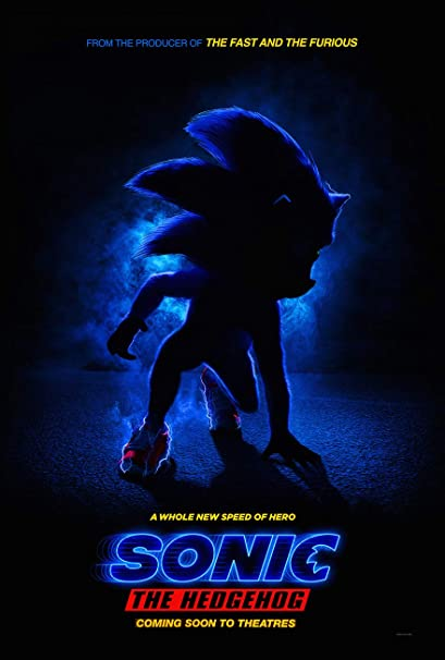 Amazon Com Sonic The Hedgehog Movie Poster 2 Sided Original Intl Advance 27x40 Jim Carrey Everything Else