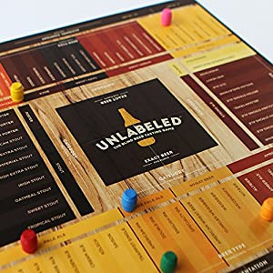 Unlabeled – The Blind Beer Tasting Board Game: Put Your Taste Buds to The Test and Play at Home or at The bar!