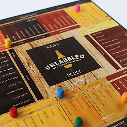 Unlabeled - The Blind Beer Tasting Board Game: Put your taste buds to the test and play at home or at the bar!