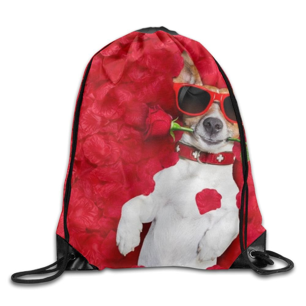 Funny Dog Drawstring Backpack Rucksack Shoulder Bags Training Gym Sack For Man And Women