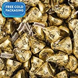Hershey's Kisses Candy with Almonds & Gold Foil Gold 25lb case