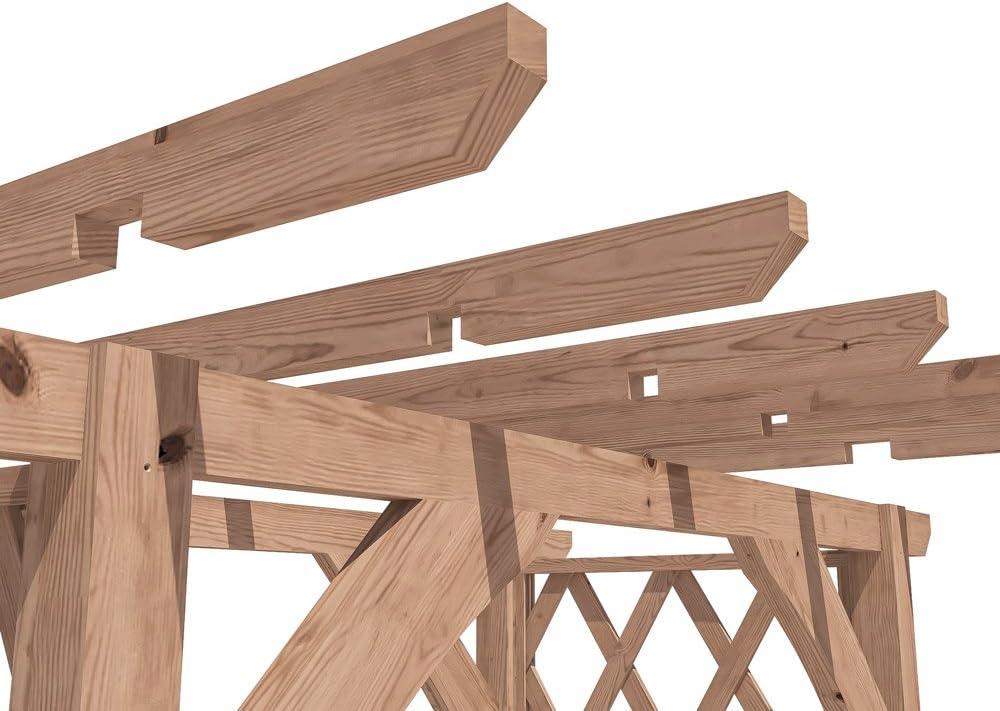 Dunster House Pergola Enrejado Arco de Madera para Plantas de jardín – JasmineTM