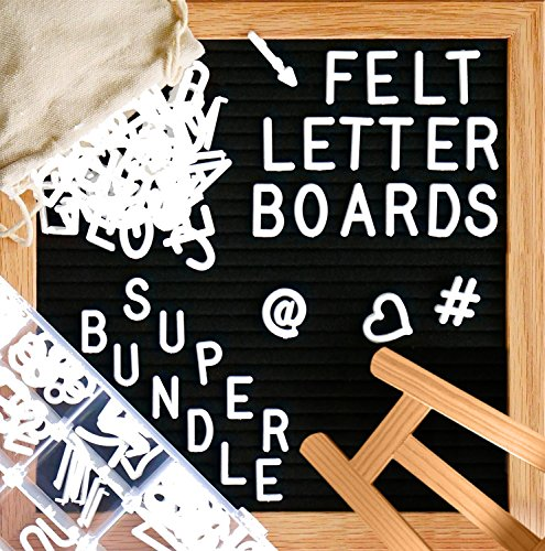 Hippo Letters - Letter Board - 10x10 w/690+ LETTERS +STAND +SORTING TRAY +CANVAS BAG +MORE | Changeable Black Felt Message Board, Letterboard, Felt Board, Marquee sign, Word Board, Sign Board by Little Hippo