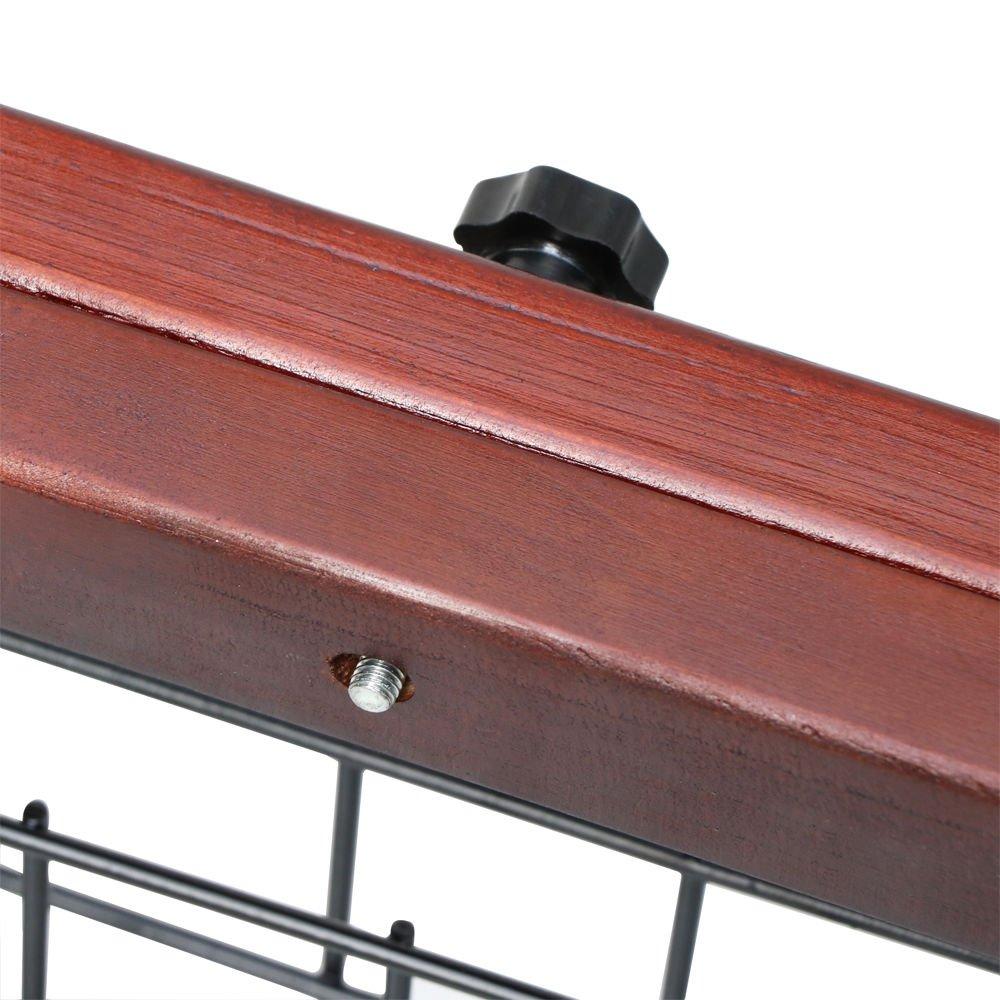 Tek Widget Adjustable Free Standing Indoor Dog Wood Gate/Fence by Tek Widget (Image #6)