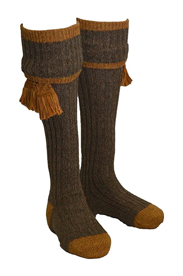 Edwardian Men's Accessories Walker and Hawkes Mens Shooting Country Kyle Socks & Matching Garter Ties $59.42 AT vintagedancer.com