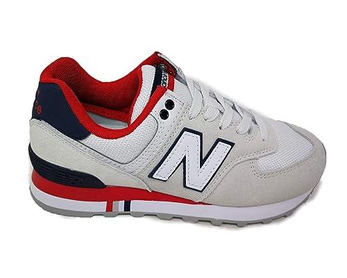 new balance sneaker weis rot