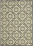 Safavieh Four Seasons Collection FRS398A Hand-Hooked Spa and Dark Brown Indoor/ Outdoor Area Rug (4' x 6')