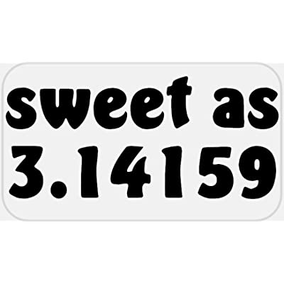 Sweet As 3.14159-100 Stickers Pack 2.25 x 1.25 inches - Pi Day 3.14 Math: Office Products