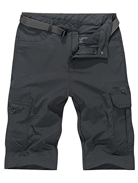 1533a784f6 Amazon.com: OCHENTA Men's Outdoor Water-Resistant Quick Dry Cargo Shorts  Grey Size 4XL - US 38: Clothing