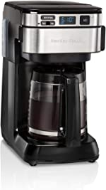 Hamilton Beach Programmable Coffee Maker, 12 Cups, Front Access Easy Fill,