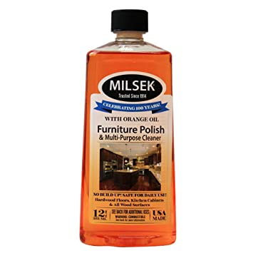 Milsek OR 12 Furniture Polish And Cleaner With Orange Oil, 12 Ounce
