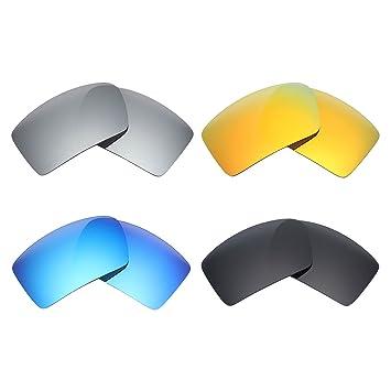 Mry 4paires polarisées Lentilles de remplacement pour Oakley Cache-œil 2Sunglasses-stealth Noir/rouge Feu/ICE Bleu/argent Titane 4S08xSMZ