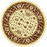 Safavieh Lyndhurst Collection LNH215A Traditional Oriental Ivory and Red Round Area Rug (8′ Diameter) Review