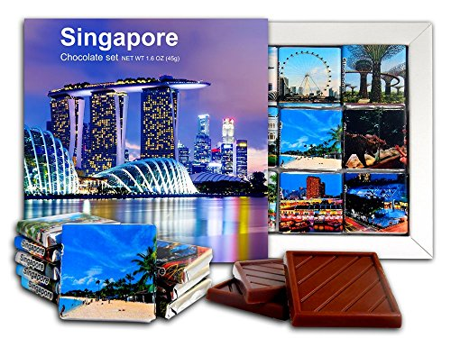 (DA CHOCOLATE Candy Souvenir SINGAPORE Chocolate Gift Set 5x5in 1 box (Night))