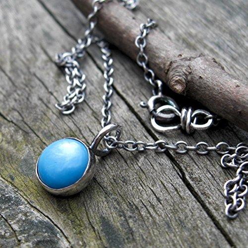 - Arizona Sleeping Beauty Turquoise Button Necklace