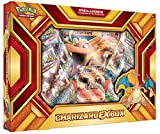 Prepare for new adventure when you meet the Pokémon in the Pokémon TCG: Charizard-EX Box—Fire Blast! Charizard-EX is among the most loved and fiercest Pokémon, and it is included as a stunning oversize card!