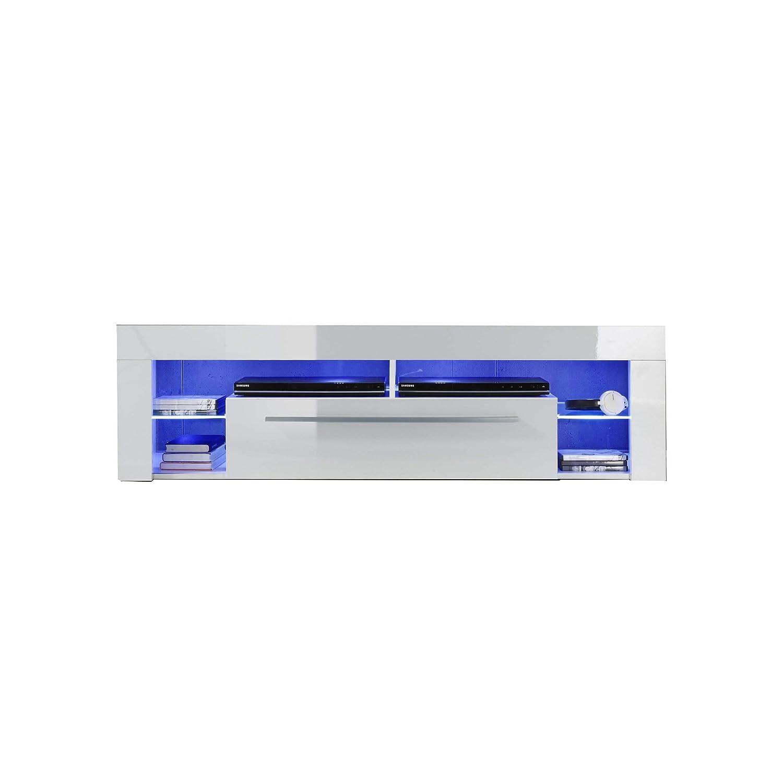 Trendteam smart living Wohnzimmer Niedrigboard Fernsehschrank Fernsehtisch Score Wohnen, 153 x 44 x 44 cm in Weiß