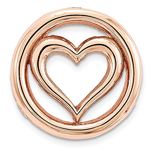 - Sterling Silver Stackable Expressions Rose-tone Small Polished Chain Slide